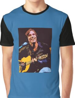 Jackson Browne- Smiling with Guitar Graphic T-Shirt