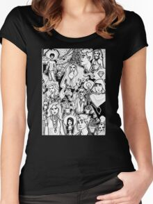 Ink on Ink on Ink Women's Fitted Scoop T-Shirt