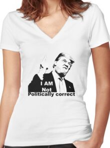 Politically correct Women's Fitted V-Neck T-Shirt