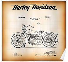 PATENT - HARLEY DAVIDSON 1928 Poster