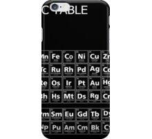 PERIODIC TABLE on BLACK MIRROR iPhone Case/Skin