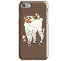 Pug With Lady Legs iPhone Case/Skin