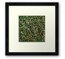 Army Camouflage Splat Painting Framed Print