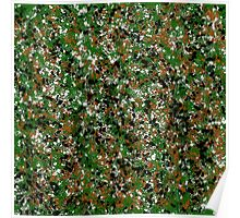 Army Camouflage Splat Painting Poster