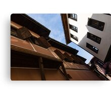 Sun and Shade - Elegant Revival Houses in Old Town Plovdiv, Bulgaria Canvas Print