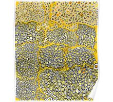 I don't know gold yellow white black and orange honeycomb pattern Poster