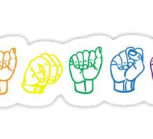 Namaste Sign Language Sticker
