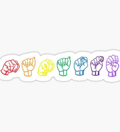 Namaste Sign Language Sticker