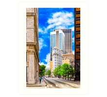 History Surpassed - The Atlanta Flatiron Building Art Print