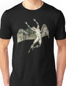 ICARUS THROWS THE HORNS - antique grunge Unisex T-Shirt