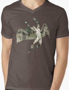 ICARUS THROWS THE HORNS - antique grunge Mens V-Neck T-Shirt
