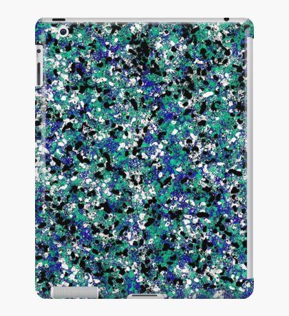 Blue Army Splat Painting iPad Case/Skin