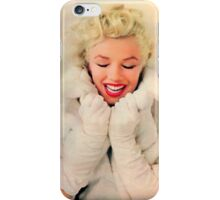 Marilyn Monroe White Xmas case iPhone Case/Skin