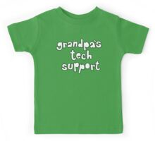 Grandpa's Tech Support Kids Tee