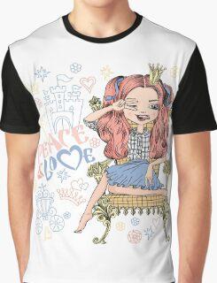 Fashionable girl princess  Graphic T-Shirt