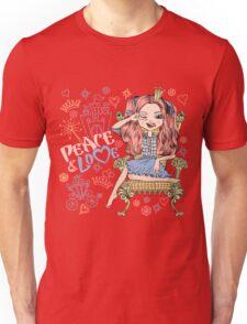 Fashionable girl princess  Unisex T-Shirt