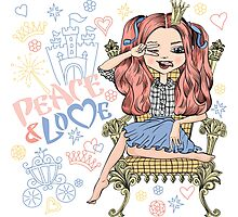 Fashionable girl princess  Photographic Print