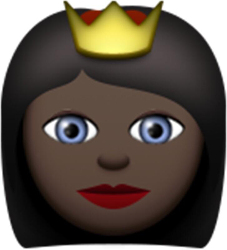Quot Emoji Princess Black Quot Stickers By Paris1 Redbubble