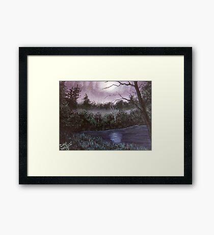 Peaceful  pond Framed Print