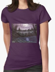Peaceful  pond Womens Fitted T-Shirt