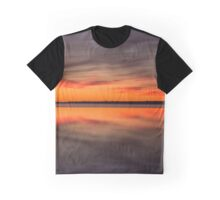 Dawn Reflections On The Narrow River | Orient, New York Graphic T-Shirt