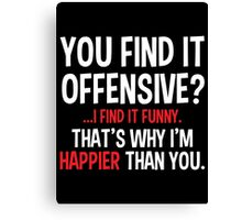 offensive Canvas Print