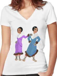 North Slope 20's Girls Women's Fitted V-Neck T-Shirt