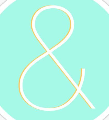 Ampersand in Helvetica Neue Sticker