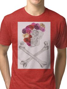 Flowers and Bones Tri-blend T-Shirt