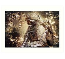 Apocalyptic Gaming Soldier Art Print