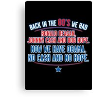 reagan obama Canvas Print