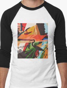 For The Birds Skate Deck Design Men's Baseball ¾ T-Shirt