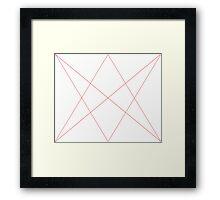 Red diamond+arrows Framed Print
