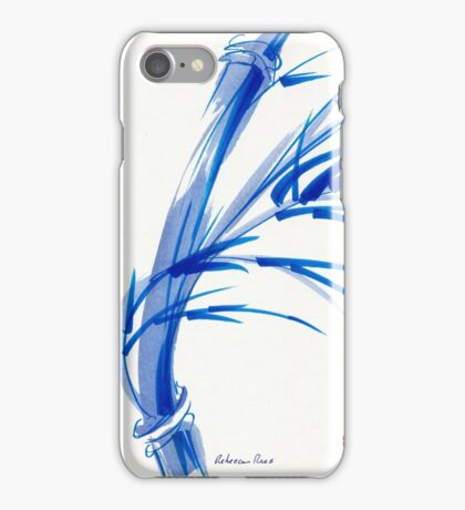 """Wind""  blue sumi-e ink wash painting iPhone Case/Skin"