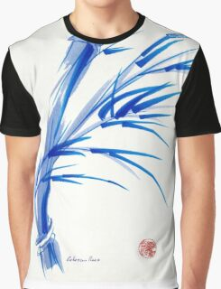 """""""Wind""""  blue sumi-e ink wash painting Graphic T-Shirt"""