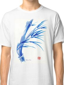 """Wind""  blue sumi-e ink wash painting Classic T-Shirt"