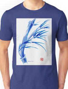 """Wind""  blue sumi-e ink wash painting Unisex T-Shirt"