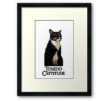 Tuxedo Cattitude Framed Print