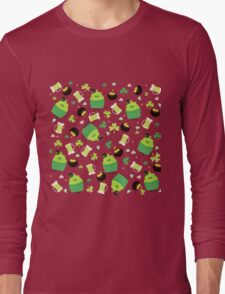 St Patrick's Day Happy Go Lucky Cupcakes Long Sleeve T-Shirt