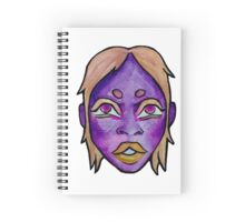 Purple Woman Watercolor Spiral Notebook