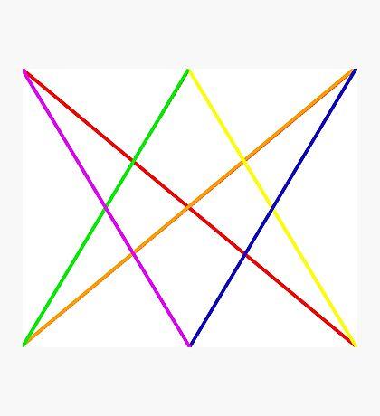 Rainbow diamond+arrows Photographic Print