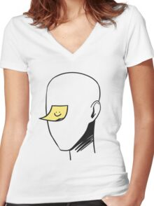 Sticky Note Women's Fitted V-Neck T-Shirt