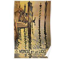 'Venise Et Le Lido' Vintage Travel Poster Poster