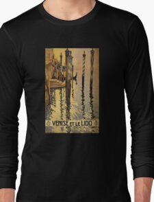 'Venise Et Le Lido' Vintage Travel Poster Long Sleeve T-Shirt