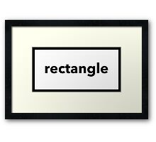 rectangle Framed Print