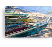 Group of Fishing Palm Boats Metal Print
