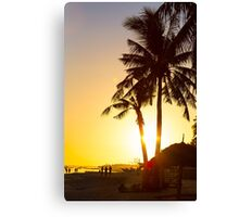 Golden Beach Tropics Canvas Print