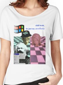 vaporwave vomit Women's Relaxed Fit T-Shirt