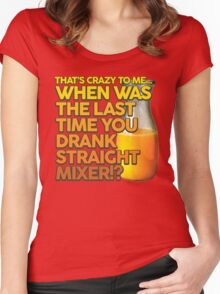 When Was The Last Time You Drank Straight Mixer!? (ALWAYS SUNNY) Women's Fitted Scoop T-Shirt
