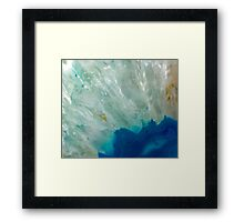 Abstract Blue Quartz Framed Print